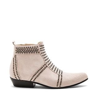 Anine Bing Blush Charlie Suede Booties 38